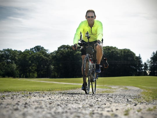 Mike Garland recently finished a 3,800-mile bike ride from his home near Clear Lake to Ashland, Oregon, and back to raise awareness of the American Cancer Society Relay for Life events.