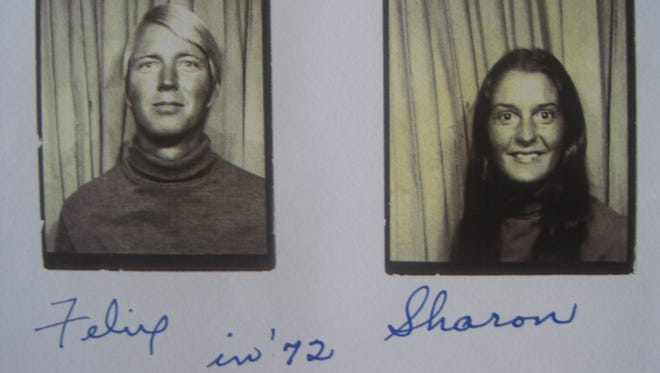 Felix Vail and Sharon Hensley pose for pictures in 1972. She disappeared a year later and hasn't been seen since by family and friends.