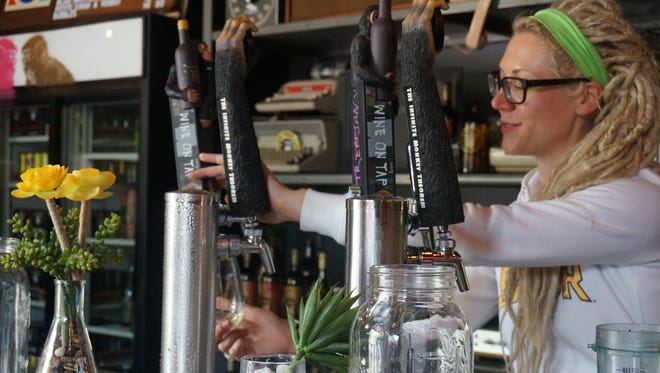 Wine taps are becoming a new restaurant trend and The Infinite Monkey Theorem in Austin puts wine in kegs for producers around the country.