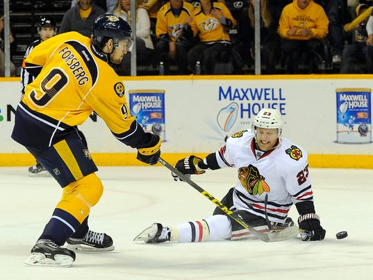 Forsberg Hat Trick Helps Send Series Back To Chicago