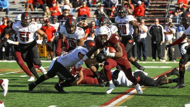 Marcus Green set single-game records in kickoff return yards (206), all-purpose yardage (396) and returned his fourth kickoff-return touchdown of the season in ULM's loss to Arkansas State.