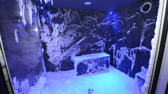"""The spa on the Viking Star features a chilled """"snow"""