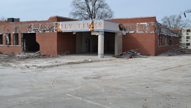 Demolition begins Thursday on the former Daily Times building on Carroll Street.