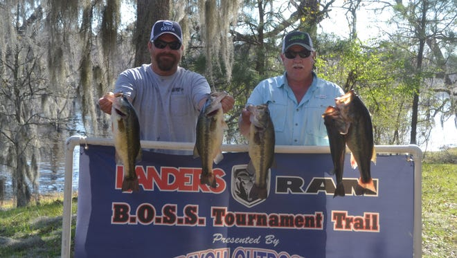 Jeremy Botica and Rickey Lee captured the Landers/Ram BOSS bass tournament on Lake Bistineau on Saturday. They caught 23.64 pounds of bass.