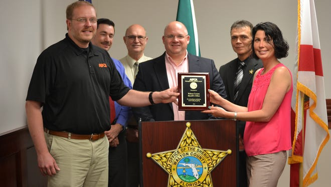 The Walton County Sheriff's Office and Walton County Animal Control for their investigation of a Freeport, Fla. dog fighting case in 2015.