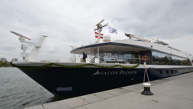 Like other river ships designed to sail in Europe, the length and width of the Avalon Passion is limited by the size of the locks on the region's waterways. The ship measures 443 feet long and 38 feet wide -- the maximum amount possible for ships cruising the Rhine, Main and Danube rivers.