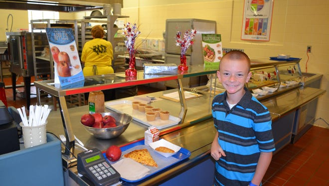 """Grant Hayek started a """"suggestion box"""" for lunches at his Leader Heights Elementary School cafeteria."""