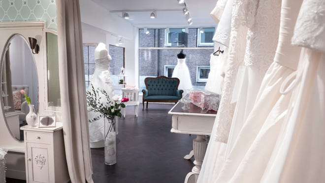 Three witness saw a Pennsylvania man walking naked in a bridal boutique store window July 20.