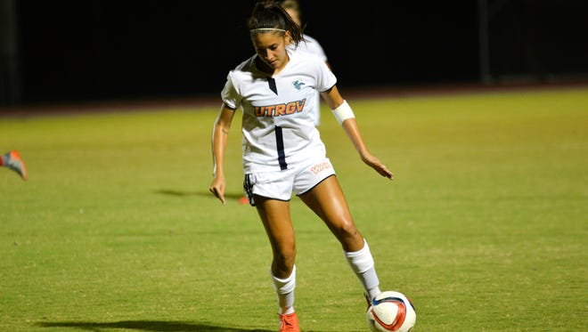 Former Andress soccer player Andreya Barrera returns home today to play against UTEP. Barrera plays for Texas Rio Grande Valley.