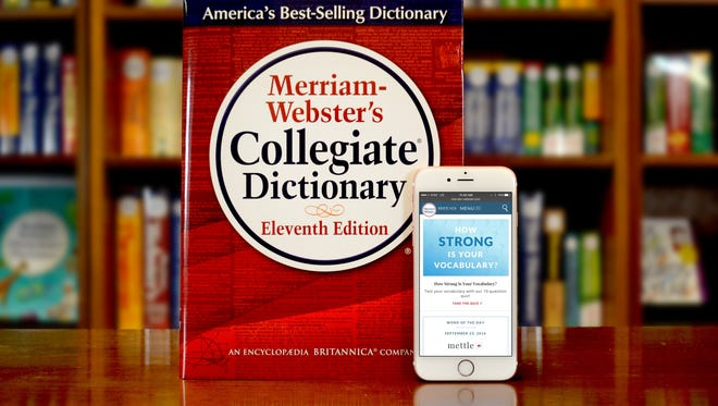 In this handout image provided by Merriam-Webster, a dictionary and mobile website are displayed.