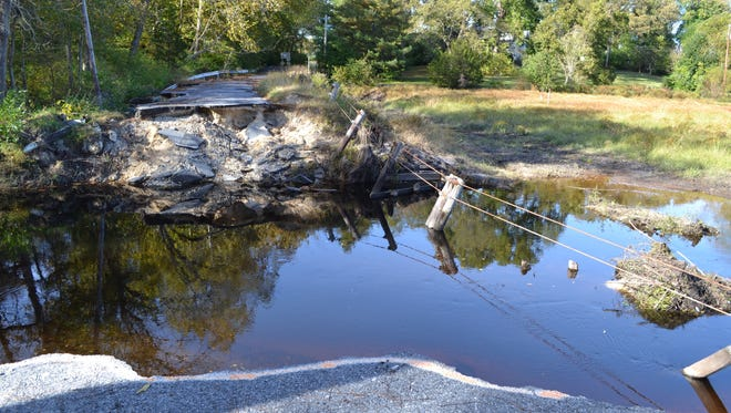 Wicomico County's proposed capital improvement plan includes $500,000 to repair this section of Barren Creek Road near Mardela Springs that washed out in a July storm.