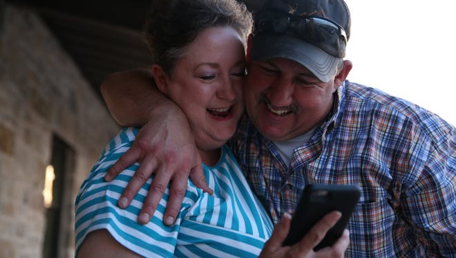 Frank Carter, seen with Kat Rowoldt, celebrated July 2 as Carter was elected police chief over incumbent Tim Vasquez.