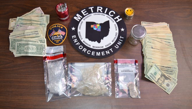 Officers with the METRICH drug-enforcement task force arrested a Galion man Thursday accused of selling drugs.