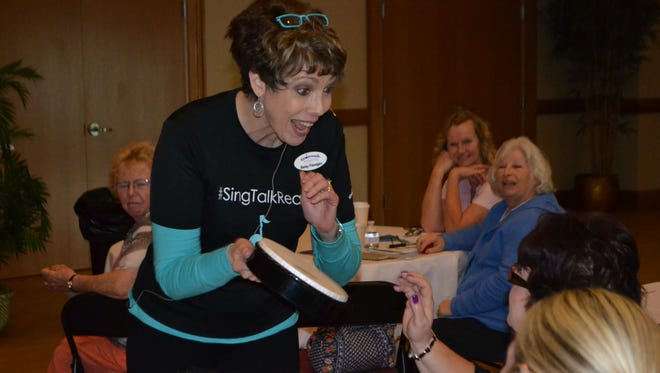 Presenter, Betsy Flanagan, engages attendees during workshop.