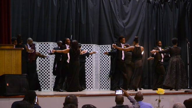 Twelve high school boys from Anderson and Oconee counties dance with their mothers Saturday as part of the 2017 Young Esquire Beautillion.