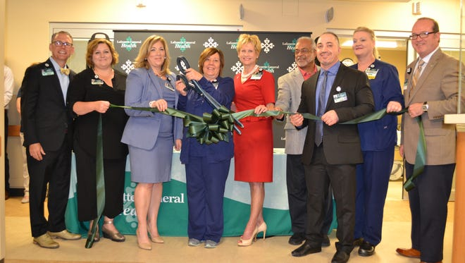 A ribbon cutting was held for the expansion of University Hospital and Clinic's emergency room on Thursday, April 20, 2017.