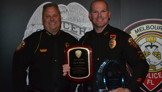 Chief David Gillespie and Officer David Helms.