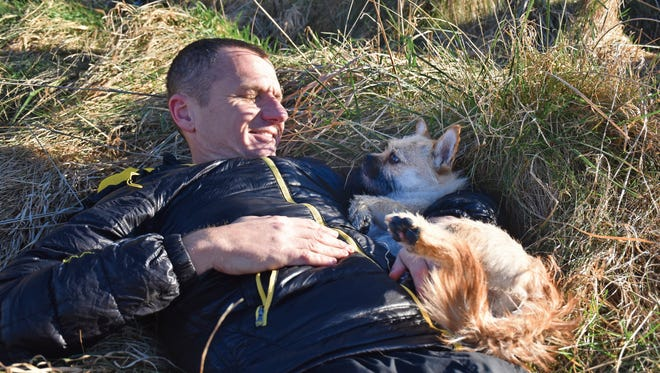 Scottish ultramarathon runner Dion Leonard met his dog Gobi during a race in 2016. The little dog made a big impact on his life.