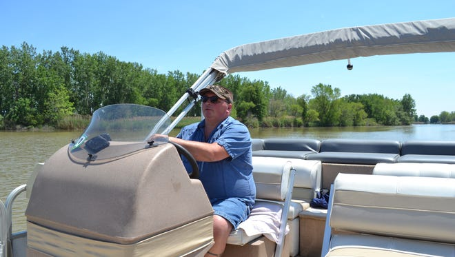 Bob Fry offers Eagle Cruise trips downriver and River Cruises to Tackle Box 2 upriver on his boat seven days a week. As far as he knows, he is the only licensed captain currently offering commercial river cruises on the Sandusky River.