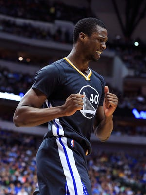 Golden State Warriors forward Harrison Barnes (40) during the game against the Dallas Mavericks at American Airlines Center.