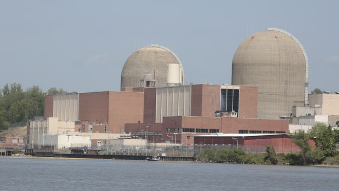 The Indian Point nuclear power plant.