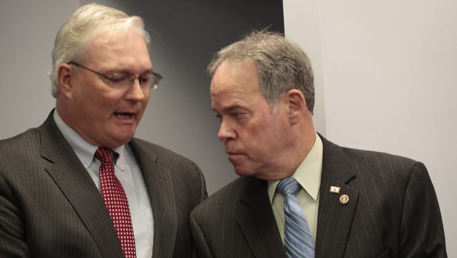 Rockland County Attorney Thomas Humbach, left, with County Executive Ed Day. Humbach said he wants to streamline the way Rockland outsources legal work to private firms. The county outsourced more than $6.5 million to private firms between 2009 and 2014.