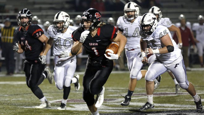 SPASH's Colton Kizewski rushed for two touchdowns and caught a pass for a 50-yard score as well in a win over Fond du Lac on Friday.