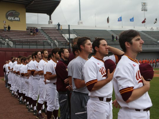 ULM v NSU Baseball 5.JPG