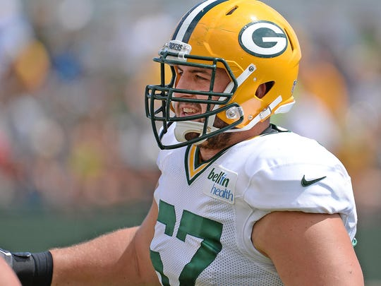Offensive guard Don Barclay is trying to return to full strength after missing last season with a knee injury.