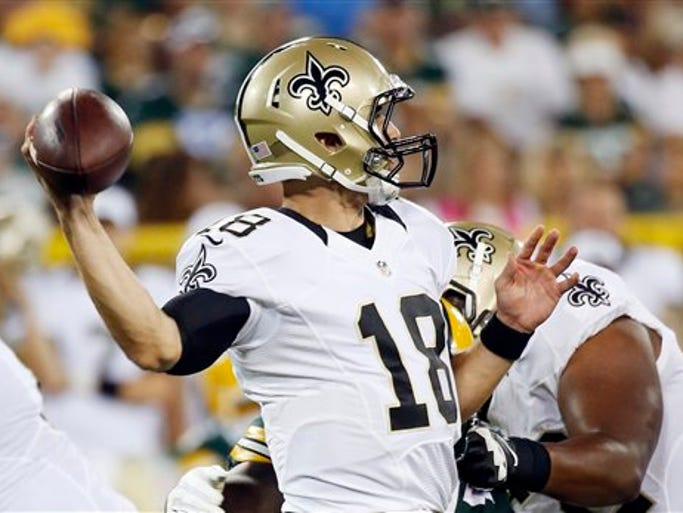 New Orleans Saints quarterback Garrett Grayson drops
