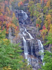 Whitewater Falls in the Nantahala National Forest is considered one of the most beautiful and the highest waterfalls in the Eastern United States.