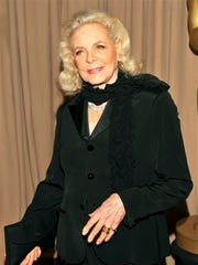 This March 7, 2010, file photo shows actress Lauren Bacall backstage during the 82nd Academy Awards in Los Angeles.