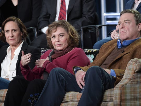 Laurie Metcalf, from left, Roseanne Barr and John Goodman