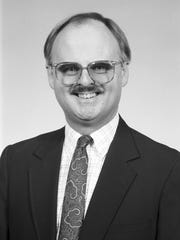 A 1993 headshot of IU's Chuck Crabb.