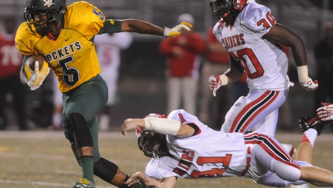 Reynolds sophomore Rico Dowdle (5) has been offered a football scholarship from Wake Forest.