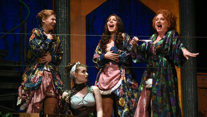 """Cast members perform during the """"Into The Woods""""  dress rehearsal in Southern Miss' Mannoni Performing Arts Center on Monday."""