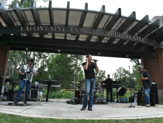 The 2XL Band rocks the LaFontaine Family Amphitheater