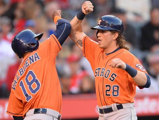 Slugging Astros hit 3 homers, blast past Angels