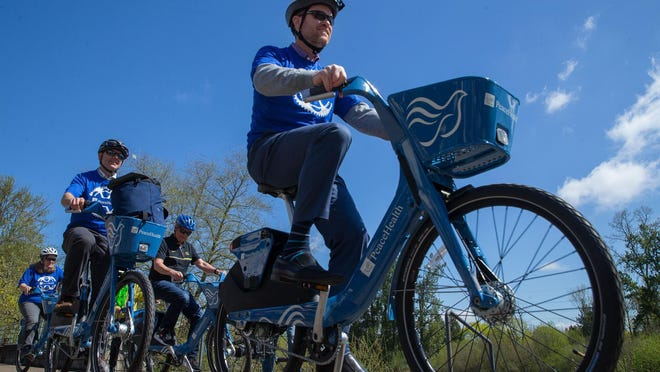 The city of Eugene will take over operations of PeaceHealth Rides, a bike-sharing rental service, later this month, avoiding any interruption in service.