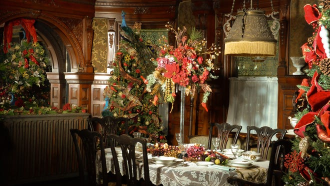 The dining room at Wilderstein Historic Site in Rhinebeck.