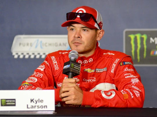 Monster Energy NASCAR Cup Series driver Kyle Larson speaks with reporters Friday to preview the Pure Michigan 400 taking place Sunday at Michigan International Speedway in Brooklyn.