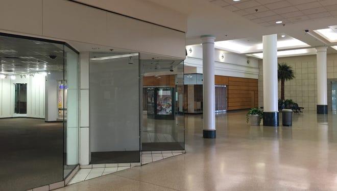 Empty storefronts at Eastland Center mall in Harper Woods. Taken April 21, 2015.