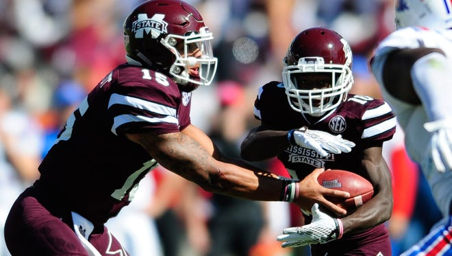 Mississippi State's Brandon Holloway (left) led the team's running back's in rushing last year.