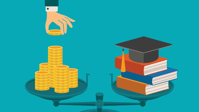 Vector concept of investment in education