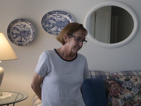 A portrait of Sue Hartin, June 13, 2018, in the Peoria