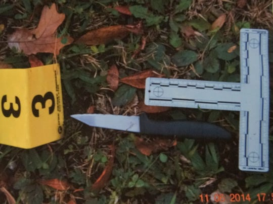 Jackson police provided a photo of the kitchen knife that they said Cinque D'Jahspora used to stab Officer Raymond Bond before Bond fatally shot D'Jahspora. A grand jury decided Monday not to charge the officer in the November shooting.