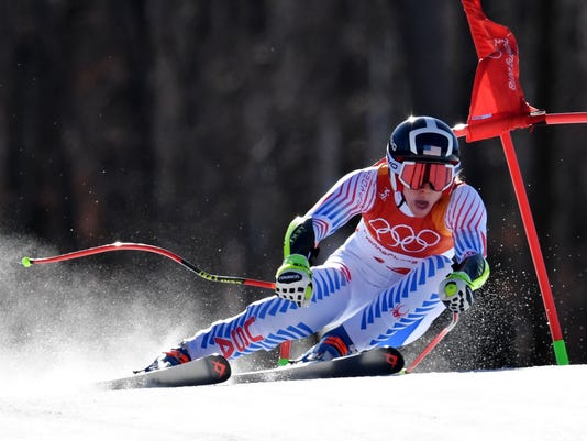 Olympics: Alpine Skiing-Womens Super-G