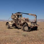 The Husky 2G Mine Detecting Vehicle produced by Charleston-based Critical Solutions International