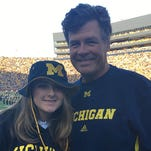 NASCAR star Michael Waltrip sees Michigan football game with daughter