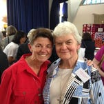 Sister Lynne Lieux, left, in June with Sister Philomene Tiernan, who died on the downed Malaysian airliner.